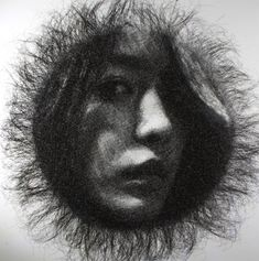 Seung Mo Park / Ephemeral Portraits Cut from Layers of Wire Mesh