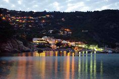 Night falling at Aiguablava, Hotel Aiguablava, Begur, Cala Fornells, Costa Brava Begur Costa Brava, River, Night, Places, Outdoor, Self, Tips, Outdoors, Outdoor Games
