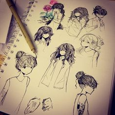 Anime sketches by tootokki