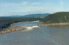 Muskrat Falls, Happy Valley-Goose Bay, NL, Canada.  Pic taken before the construction of the hydro dam