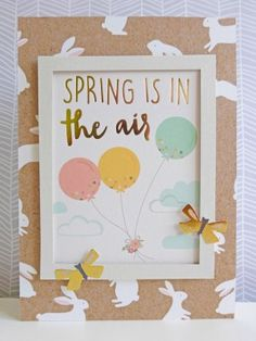 Pebbles - Spring Fling - Spring is in the Air card
