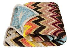 Wonderful throw from Missoni for Target. #throw rug #design #pattern #surface design #blanket #chevron