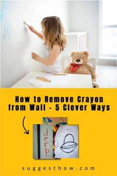Kids enjoy drawing on the walls with crayon and this does not mean the end of having clean walls at your home. Using simple tricks can help you clean the wall easily. Here is how to remove crayon from wall easily. #homehacks #clean #DIY #cleaningtips #cleanconte #cleanwax Household Cleaning Tips, Deep Cleaning Tips, Cleaning Walls, Bathroom Cleaning, Pencil Eraser, Neat And Tidy, Housekeeping, Clean House, Are You The One