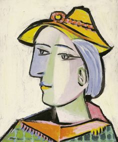 P. Picasso, Woman in an Orange Straw Hat, oil on canvas; 1936