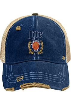 Miller Lite Brewing Company Retro Brand Vintage Mesh Beer Adjustable Hat Cap  - Brought to you by Avarsha.com edd03adc9715