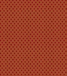 Home Decor Solid Fabric-Waverly Prussian Dot Ruby $14.99