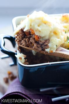 Beef and Potato Casserole - A warm casserole dish of Comfort food at it's best.