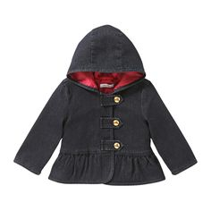 Joe Fresh Baby Girls' Denim Peplum Jacket $19