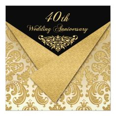 FAUX Flaps Damask Anniversary Invitation we are given they also recommend where is the best to buyHow totoday easy to Shops & Purchase Online - transferred directly secure and trusted checkout. Reception Only Invitations, 50th Wedding Anniversary Invitations, Scroll Wedding Invitations, Summer Wedding Invitations, 40th Anniversary, Wedding Invitation Design, Parents Anniversary, Invites, Damask Wedding