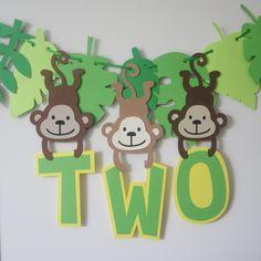 Moana Theme Birthday, Safari Birthday Cakes, Monkey Birthday Parties, Jungle Theme Birthday, Jungle Theme Parties, 2nd Birthday Party Themes, Animal Birthday, Jungle Theme Cakes, Safari Party Decorations