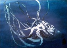 Once believed to be a mythical sea creature, scientists discovered a giant squid in 1853 that could explain the stories of the Kraken long told by ancient mariners.