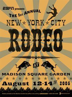 Modern Vintage Rodeo Poster