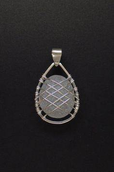 Sea Glass Jewelry – Sterling Caged Large White Sea Glass Pendant INCREDIBLY BEAUTIFUL, I LOVE THIS AS I HAVE A FASCINATION WITH SEA GLASS!! - SO BEAUTIFUL &'SO MUCH HISTORY!