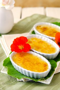 Creme Brulée: the final vegan frontier. Not anymore, thanks to Vegan Yack Attack!