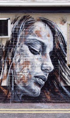 ~Graffiti~ Beyond Banksy Project / David Walker Murals Street Art, 3d Street Art, Urban Street Art, Amazing Street Art, Street Art Graffiti, Mural Art, Street Artists, Amazing Art, Graffiti Drawing