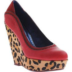 Poetic Licence - Body Love (Women's) - Red Leather wedge heel. #red #shoes #wedges #heels #fashion