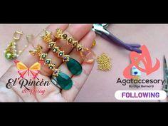 Aretes Olga Mostacillas y Cristales 2 Aretes en 1 Video La Misma Tecnica - YouTube Brazilian Embroidery, Earring Tutorial, Bead Earrings, Beading Patterns, Handmade Jewelry, Jewels, Beads, Bracelets, Youtube
