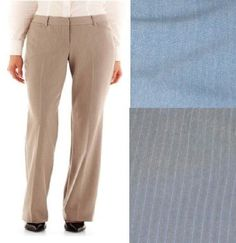 Worthington womens pants modern fit straight Leg size 10, 14, 16, 18 NEW 19.99 http://www.ebay.com/itm/-/252370206641?