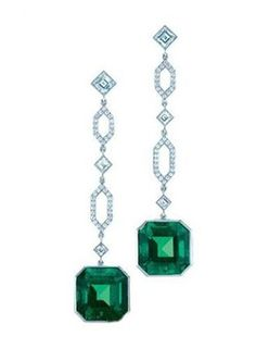 Emerald earrings. My birthstone. Beautiful