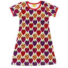 Swedish Strawberry A-Line Dress - ittikid Scandinavian Baby, Strawberry Dress, Shops, Dress Skirt, Short Sleeve Dresses, How To Wear, Clothes, Sweden, Printed Dresses