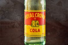 Rare Vintage Rc Royal Crown Cola Soda Bottle 12 Oz 1952