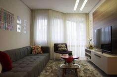 Salas de estilo moderno por Bibiana Menegaz Arquitetura de Atmosfera