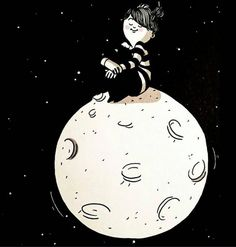 Diario Space Illustration, Illustrations, Girly Quotes, Cute Quotes, Cartoon Drawings, Cute Drawings, Body Drawing, Naive Art, Moon Art