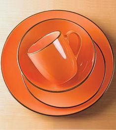 Orange stoneware din