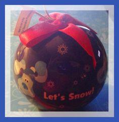 "BLUES CLUES CHRISTMAS ORNAMENT 2003 ENESCO BALL 3"" DIAMETER W/ RED RIBBON! NEW!"