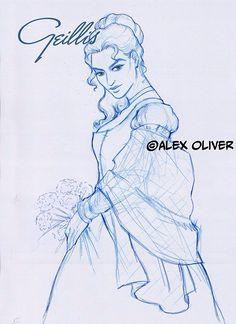 Alex Oliver: dibujante on Facebook Outlander Fan Art, Outlander Series, Art Sketches, Facebook, Fiction, Sam Heughan, Artist, Cute, Books