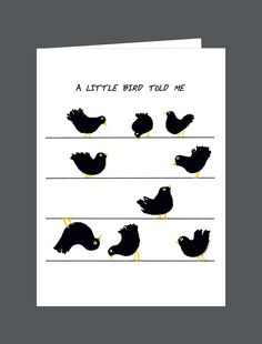A Little Bird Told Me You're Under The Weather. Get Well Soon. - Card