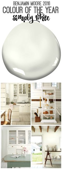 Benjamin Moore 2016 Colour of the Year Simply White inspiration at thehappyhousie.com