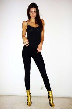 Kendall long lithe gold heels sexy <3