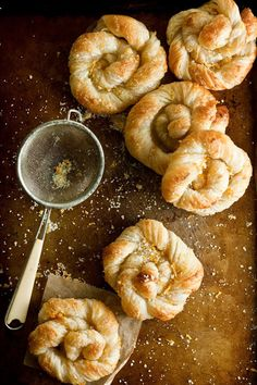 Orange Sugar Danish Pastries Recipe (Hummingbird on High) | All you need are a few sheets of frozen puff pastry, one orange, and a half cup of sugar.