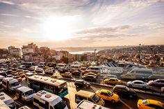 Stock Photo : Heavy Evening Traffic in Istanbul, Turkey