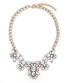 Look at this Crystal & Goldtone Chloe Statement Necklace on #zulily today!