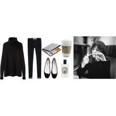 Untitled #167 by goldandcocaine on Polyvore featuring mode, La Garçonne Moderne, Abercrombie & Fitch, Repetto and Diptyque