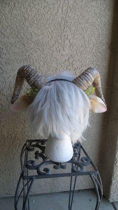 NEW ARRIVAL RAM horns headband 3D printed cosplay by MudandMajesty