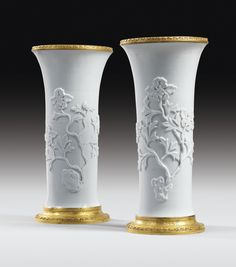 PAIR OF GILT-BRONZE MOUNTED CHINESE WHITE PORCELAIN VASES, THE PORCELAIN KANGXI (1662-1722), THE MOUNTS FRENCH RÉGENCE, CIRCA 1720