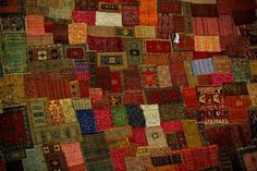 Patchwork of Carpets in Marrakech.