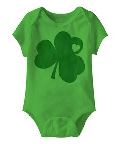 Another great find on #zulily! Grass Shamrock Heart Bodysuit - Infant by American Classics #zulilyfinds