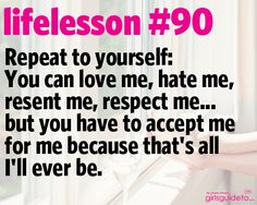 Little Life Lesson 90: Accept Me | GirlsGuideTo