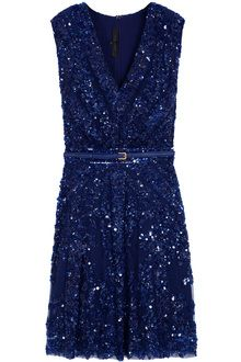 Elie Saab Short Dresses | Elie Saab Short Sleeve Beaded Dress - Lyst