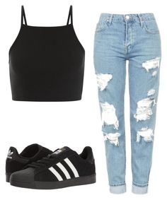 Sem título #8090 by ana-sheeran-styles on Polyvore featuring moda, Topshop and adidas