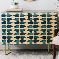 East Urban Home The Old Art Studio Mid Century Geometric Credenza Cheap Patio Furniture, Kitchen Furniture, Cool Furniture, Modern Furniture, Building Furniture, Furniture Cleaning, Furniture Market, Furniture Outlet, Luxury Furniture