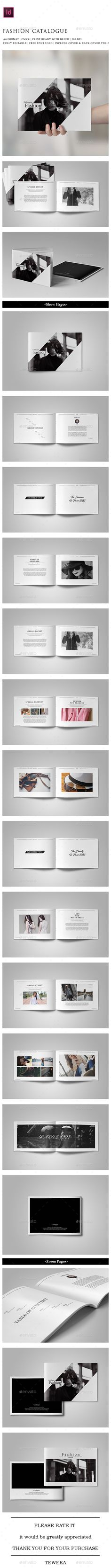 Fashion Catalogue Template InDesign INDD. Download here: https://graphicriver.net/item/fashion-catalogue/17562428?ref=ksioks