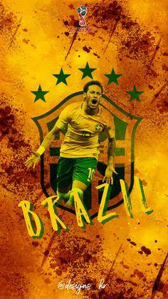 Neymar Brazil Football Team, Brazil Team, Neymar Brazil, Best Football Players, National Football Teams, Soccer Players, Neymar Football, Brazil Art, Fifa