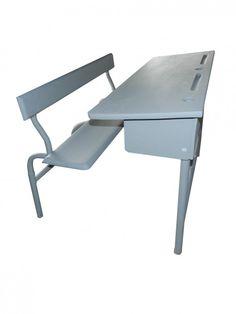 Schoolbankje grijs | original school desk