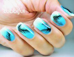 cubbiful: The Black Swan #nail #nails #nailart