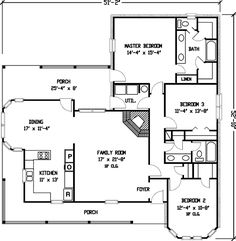 Simple Country Farmhouse Plan - 1929GT | Country, Farmhouse, 1st Floor Master Suite, PDF, Wrap Around Porch | Architectural Designs